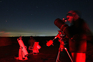 At our dark sky site