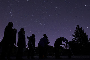 Picture of members stargazing